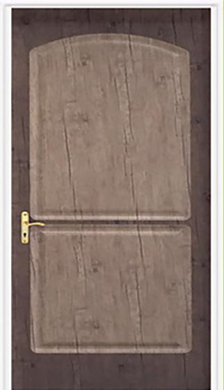 درب های ورودی دو رنگ – درخت سبز چوبینهDC-515-گنبدی