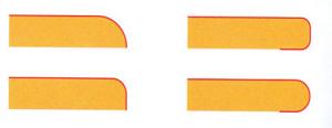 شکل6 - اشکال مختلف فرم دهي روکشهای ورقه ای تحت فشار بالا، نوع فرم پذير